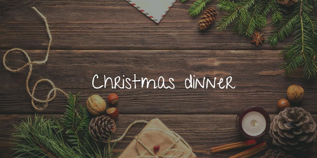 Christmas dinner in England