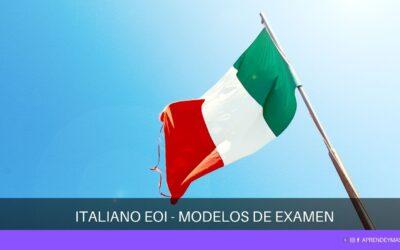 Pruebas de certificación de Italiano de la EOI